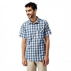 Craghoppers - Night blue combo Walkton short sleeved check shirt