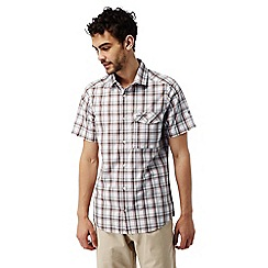 Craghoppers - Dark grey combo Walkton short sleeved check shirt