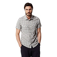 Craghoppers - Quarry grey combo Wensley checked short sleeved shirt