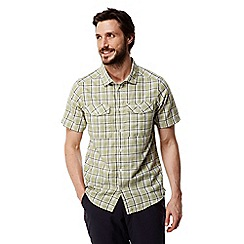Craghoppers - Soft khaki combo Wensley checked short sleeved shirt