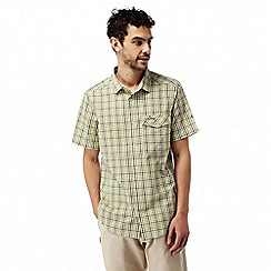 Craghoppers - Soft khaki combo Warby short sleeved check shirt