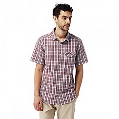 Craghoppers - Carmine red combo warby short sleeved check shirt