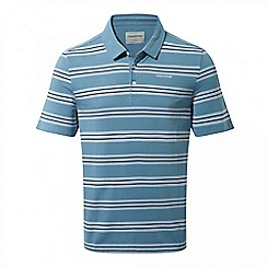 Craghoppers - Smoke blue combo Crickton short sleeved polo shirt
