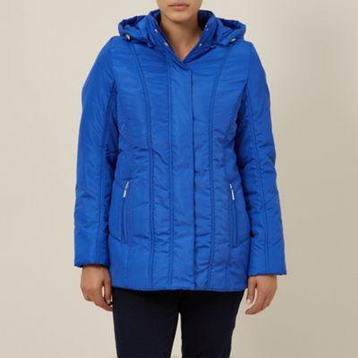 Dash Blue Seamed Detail Coat - . -