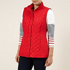 Dash - Red Zip-off Sleeve Contrast Coat