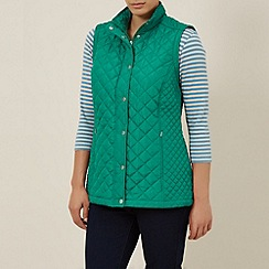 Dash - Quilted Contrast Zip-off Sleeve Coat