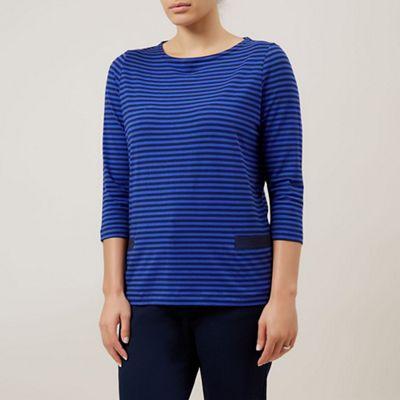 Dash Blue Stripe Top - . -