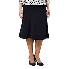 Eastex - Navy Shorter Length Fit & Flare Skirt