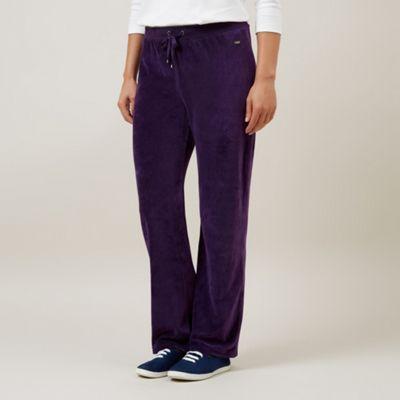 Dash Aubergine Velour Trousers Petite - . -