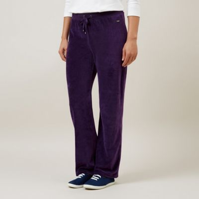 Dash Aubergine Velour Trousers Regular - . -