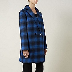 Planet - Black/black mid check coat
