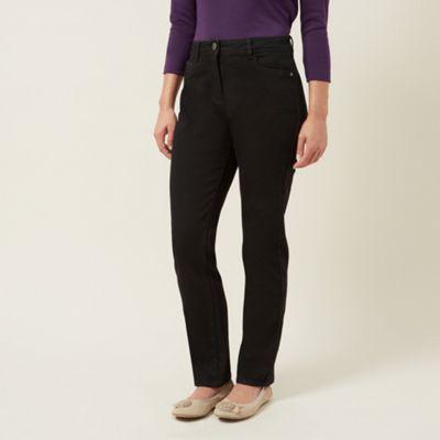 Dash Black Sparkle Straight Leg Jeans Regular - . -