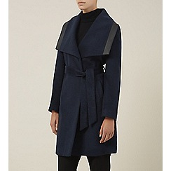 Planet - Petrol belted coat