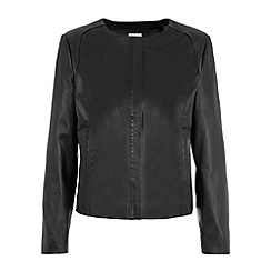 Planet - Black Leather Jacket