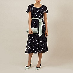 Jacques Vert - Spot print fit and flare dress