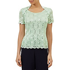 Jacques Vert - Scoop neck stretch lace top