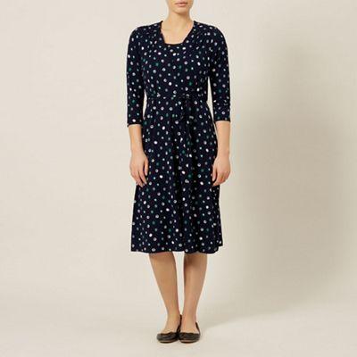 Dash 3/4 sleeve french spot wrap dress - . -