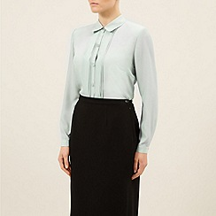 Eastex - Box pleat pintuck blouse