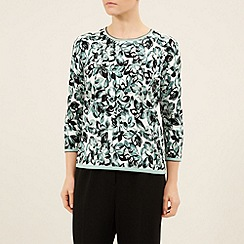 Eastex - Clover Floral Print Knit Top