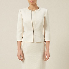 Jacques Vert - Textured Pearl Trim Jacket