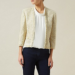 Precis Petite - Ivory/yellow/navy tweed jacket