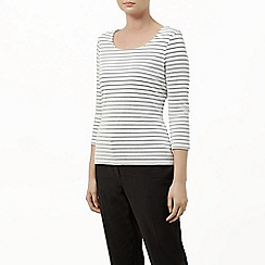Planet - Striped Textured Top