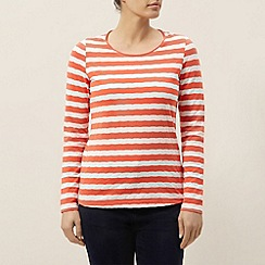 Dash - Textured stripe jersey top