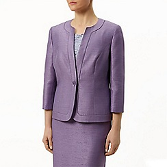 Eastex - Round Neck Shantung Jacket