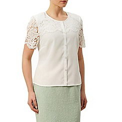 Eastex - Lace Overlay Ss Blouse