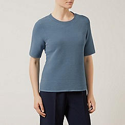 Eastex - Rib knit top azure