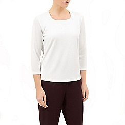 Eastex - Ivory Square Neck Top