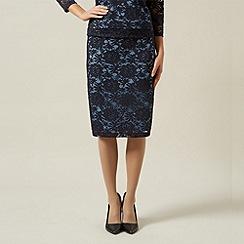 Precis Petite - Navy lace skirt
