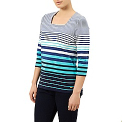 Dash - Striped Square Neck Top