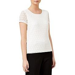Planet - Ivory circle lace top