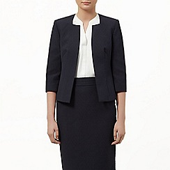 Planet - Navy textured jacket