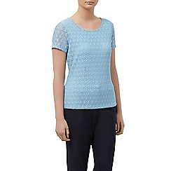 Planet - Circle lace jersey top