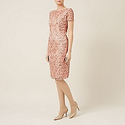 Planet - Black peach corded lace dress