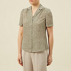 Eastex - Mosaic swirl short sleeve blouse