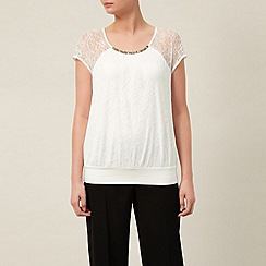 Kaliko - Lace & Jersey Bubble Hem Top