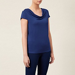 Kaliko - Cowl Neck Diamante Trim Top