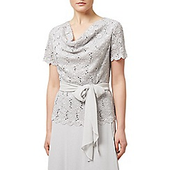 Jacques Vert - Cowl neck jersey lace top