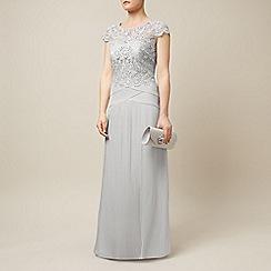 Jacques Vert - Lace top plisse maxi dress