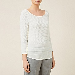 Planet - Ivory textured jumper