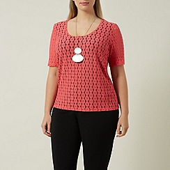 Windsmoor - Lace Coral Jersey Top