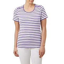 Dash - S/S simple stripe scoop neck