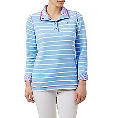 Dash - Striped funnel neck