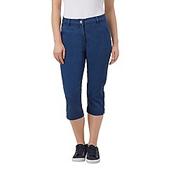 Dash - Crop mid wash denim