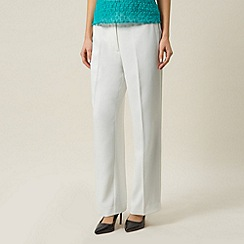 Precis Petite - Cream straight leg trouser