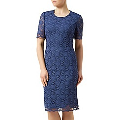 Eastex - Lace short sleeve shift dress