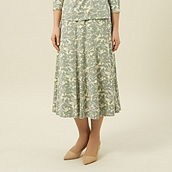 Eastex - Leaf print jersey skirt